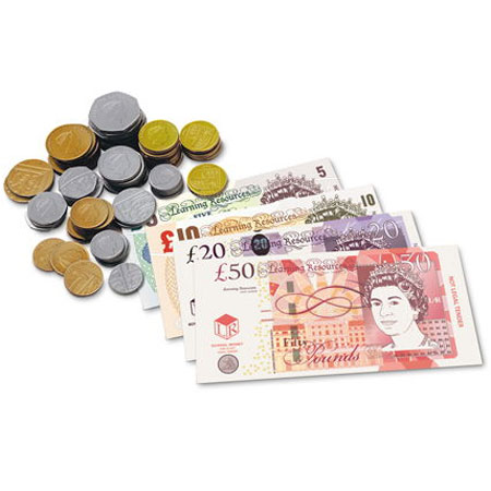 pound sterling uk play money little linguist